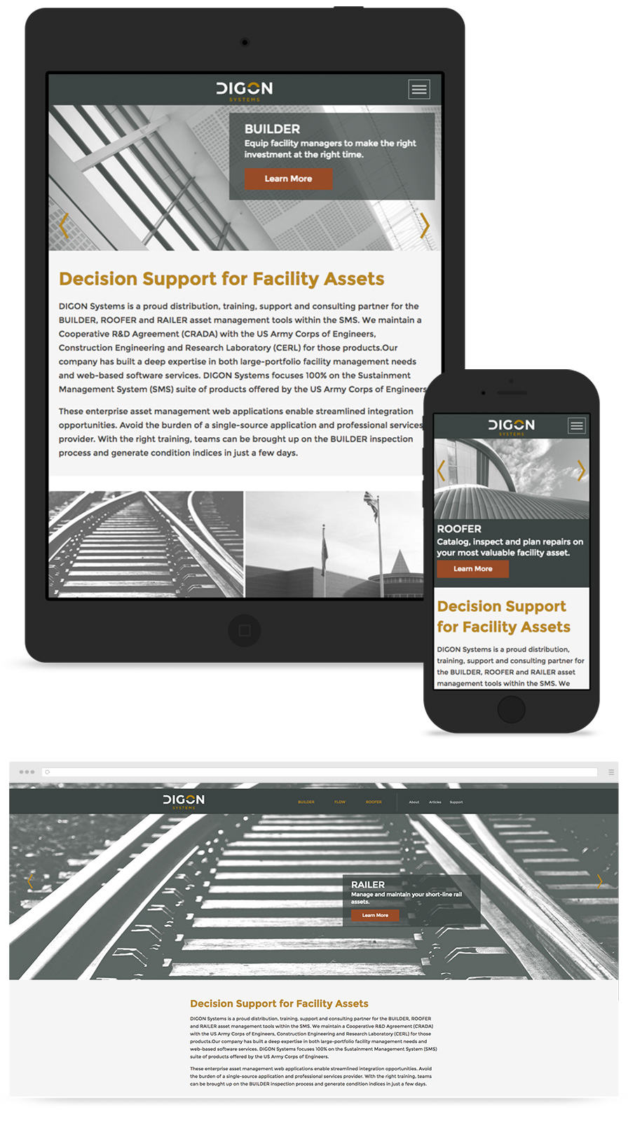 DIGON Systems Responsive Website Design