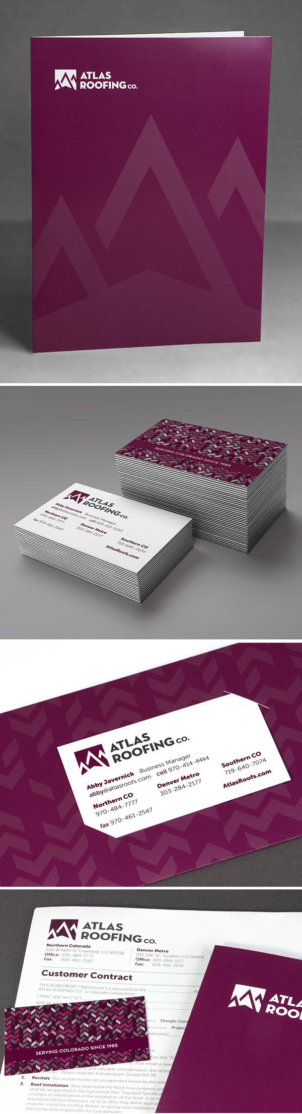 Atlas Roofing Pocket Folder Design U0026 Printing